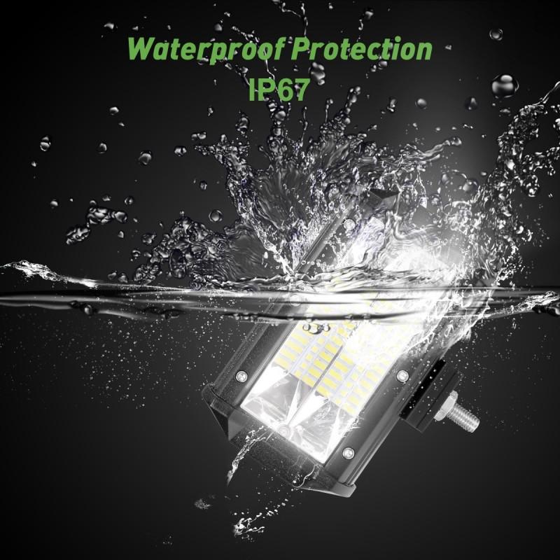 Le 2Er Led 72W Zusatzscheinwerfer 5200 Lm Arbeitsscheinwerfer Ip67 Wasserdicht,